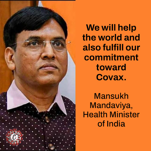 We will help the world and also fulfill our commitment toward Covax. — Mansukh Mandaviya, Health Minister of India