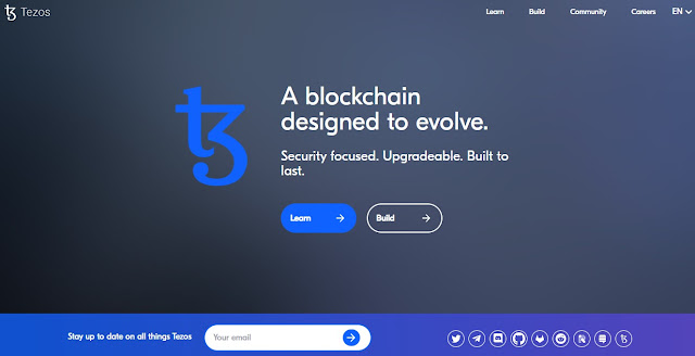 Screenshot Website Tezos (XTZ) Cryptocurrency