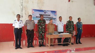 Danramil 1312-07/Miangas Dampingi Musrenbang Tingkat Kecamatan Khusus Miangas