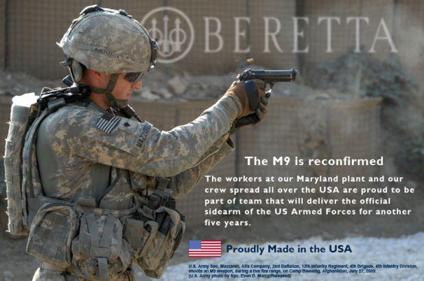 6c7b9288b0 100.000 Νέα Beretta M9 Πιστόλια για τον Αμερικανικό Στρατό