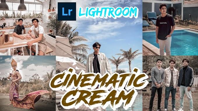 Tutorial Editing Lightroom, Cinematic Cream Lightroom