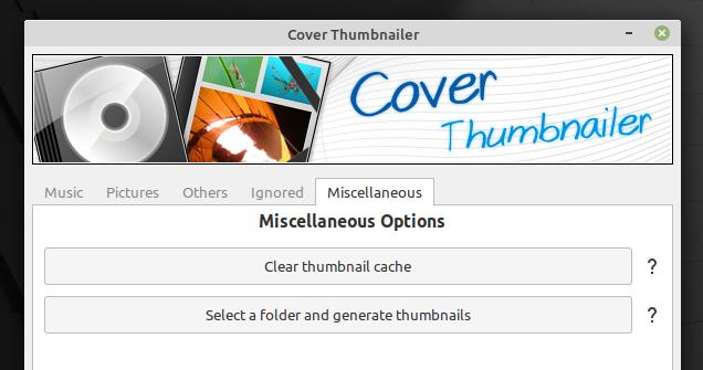 Cover Thumbnailer GUI
