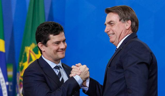 Ministro Sergio Moro apoio Jair Bolsonaro - Pronunciamento