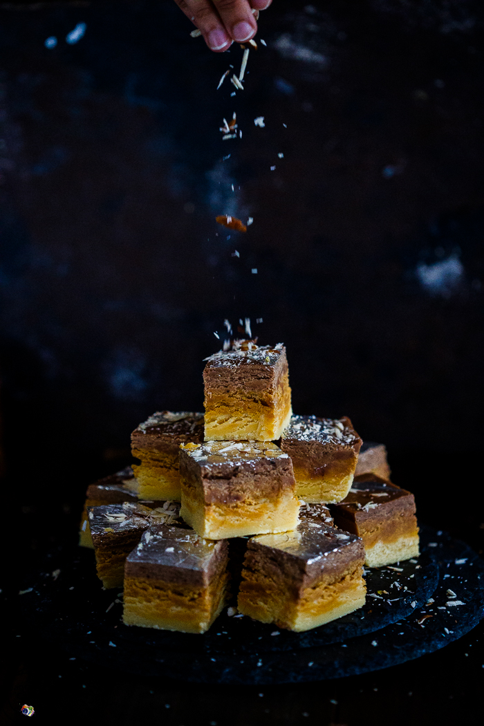 VANILLA, CARAMEL AND CHOCOLATE BARFI