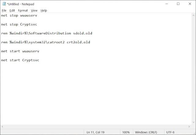 Perbaiki Kesalahan 0x800706be di Windows 10 denga Notepad