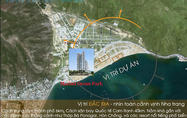 vị trí dự án căn hộ condotel marina ocean park nha trang