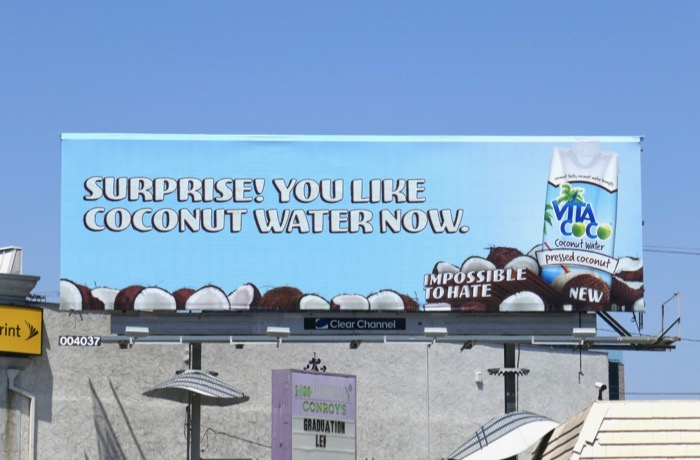 Surprise like Coconut Water now Vita Coco billboard