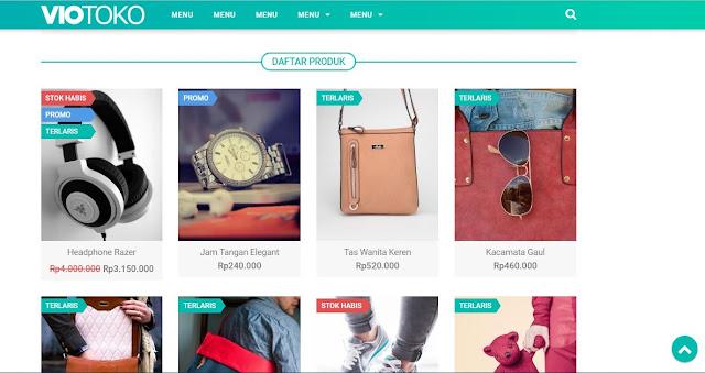 VioToko - Template Blogger Untuk Jualan Online