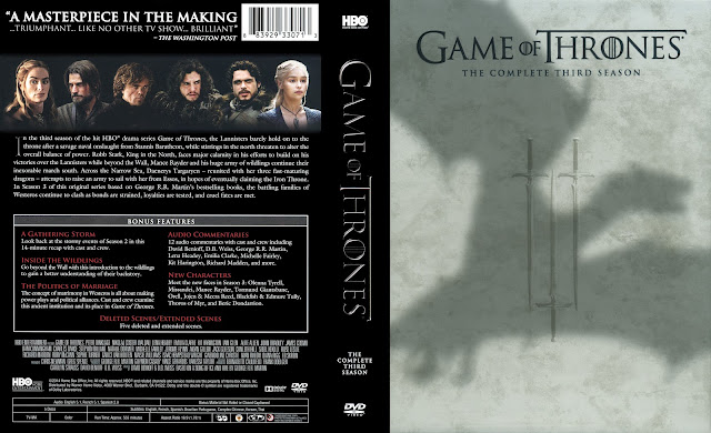 Game Of Thrones Season 3 DVD Cover