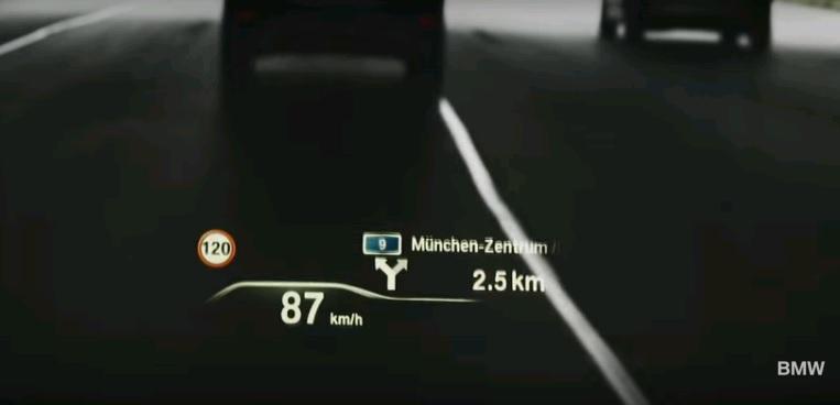 Công nghệ hiển thị HUD - Head-Up mới sẽ có trên BMW