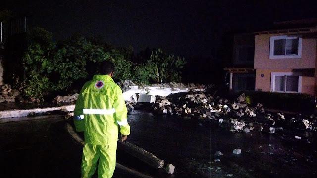 Tras la lluvia de la madrugada, se atendieron afectaciones en 7 viviendas