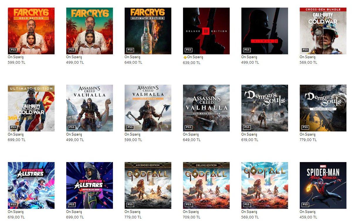 Playstation 5'in Türkiye'deki Oyun Fiyatları Açıklandı