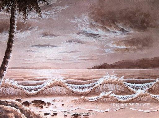 Il mare all'imbrunire