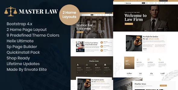 Best Attorney Law Business Joomla Template With Page Builder