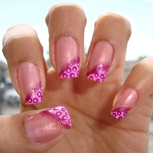 Hot Pink Nail Tips : Everything About Fashion Today!  Hot Pink Nail T...
