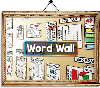 Virtual Math Classroom Images - math word wall image to hang in a virtual classroom