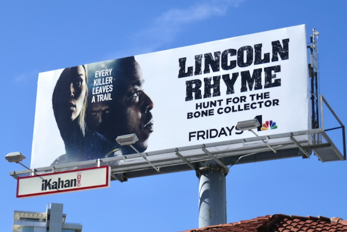 Lincoln Rhyme series launch billboard