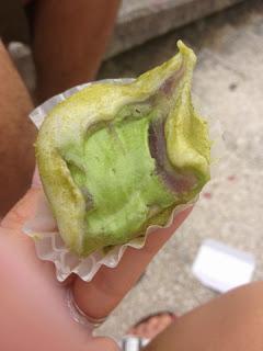 ripieno del daifuku con il gelato al te matcha