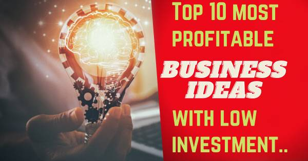 Top 10 most profitable business ideas with low investment.