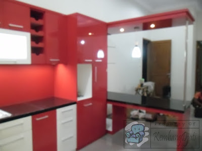 Kitchen Set Warna Merah + Furniture Semarang ( Kitchen Set Semarang )
