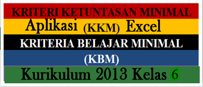 Download Gratis Aplikasi KKM K13 Kelas 6 SD/MI Edisi Revisi Terbaru