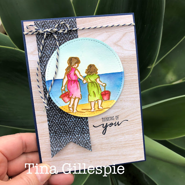 scissorspapercard, Stampin' Up!, Art With Heart, Beautiful Moments, In Good Taste DSP, Stitched Shapes Dies, Watercolouring