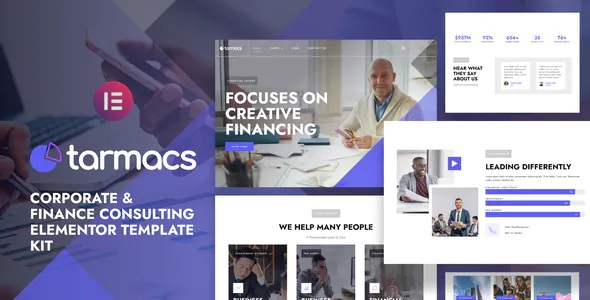 Best Corporate & Finance Consulting Template Kit