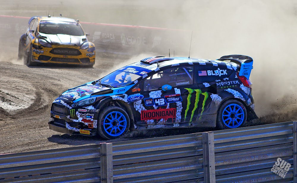 Ken Block sliding at GRC Seattle