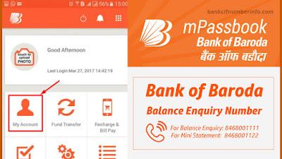 Bank of Baroda Balance Check by mobile banking