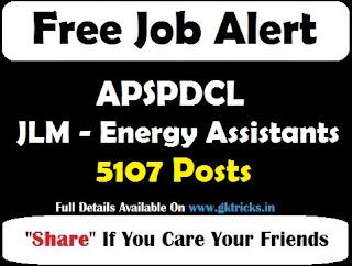 APSPDCL JLM - Energy Assistants 5107 Posts