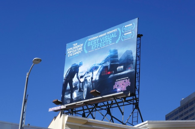 Ready Player One Oscar billboard