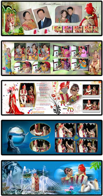 20 Indian Wedding Album Design Templates 12x36