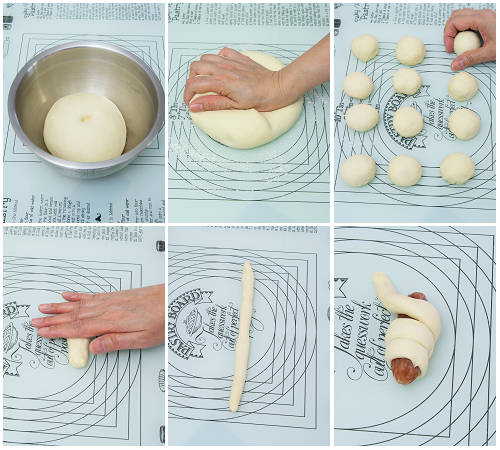臘腸卷製作圖 Steamed Chinese Sausage Rolls Procedures02