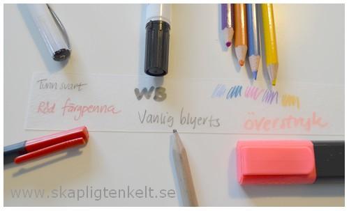 Krympplast pennor