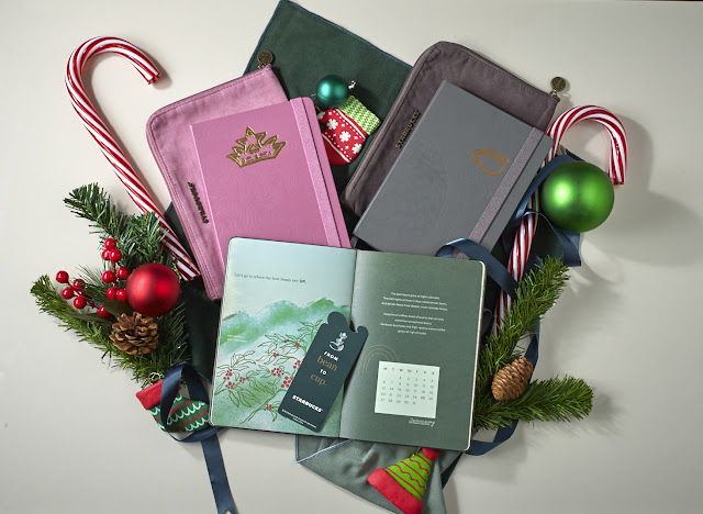Starbucks Planners in Frost Gray and Berry Pink