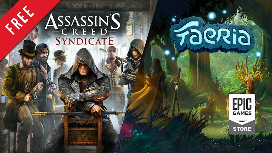 assassin's creed syndicate faeria free pc game epic games store open world action adventure turn-based strategy digital collectible card game ubisoft quebec abrakam versus evil