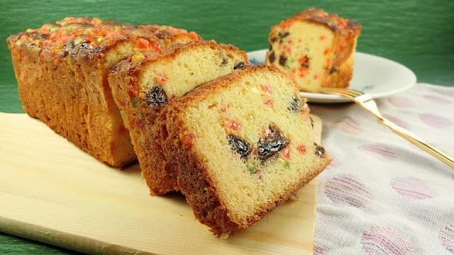 ラムレーズンとミックスゼリーのパウンドケーキ