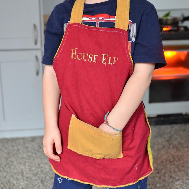 harry potter house elf apron di