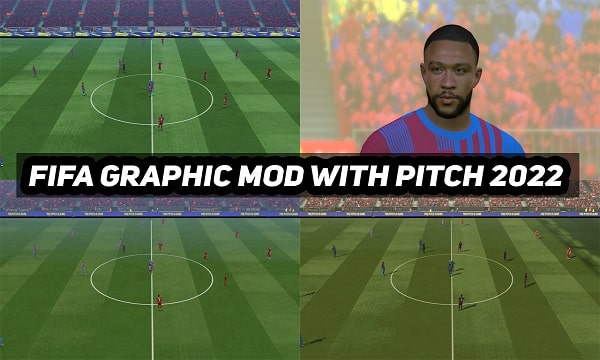 PES 2017 New Fifa Graphic Mod With Pitch 2022