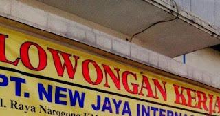 Dibutuhkan Segera Karyawan di PT New Jaya International Sebagai Sewing/Operator Jahit/Helper/Non Sewing