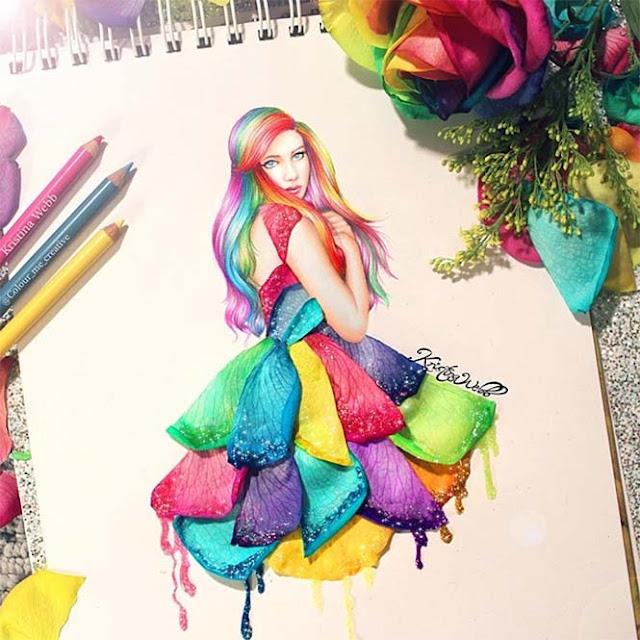 19χρονη καλλιτέχνις χρησιμοποιεί λουλούδια και τρόφιμα για να ολοκληρώσει τις ζωγραφιές της