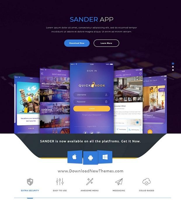 Creative App Landing Page Template