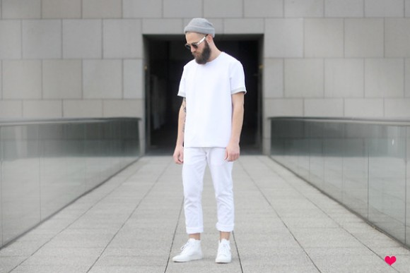Look Masculino todo Branco All White