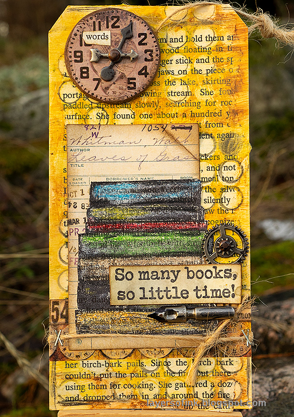 Layers of ink - Book Themed Tag Tutorial by Anna-Karin Evaldsson.