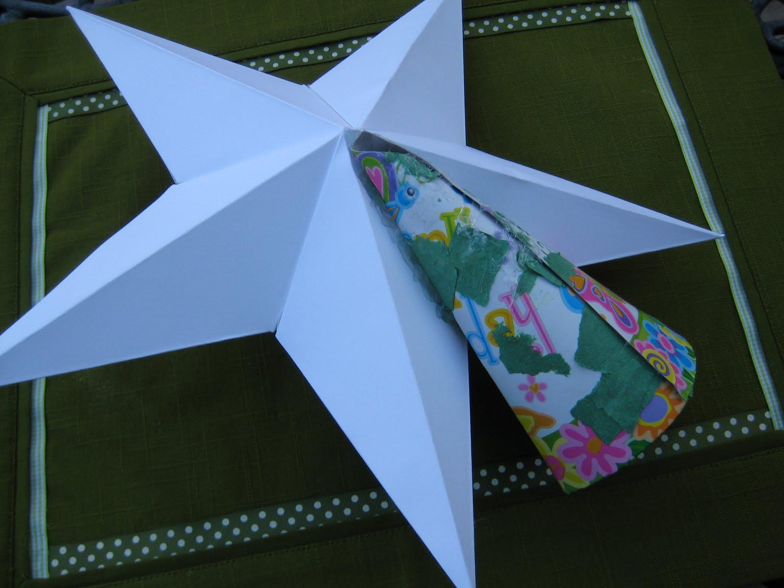 Leaf And Letter Handmade: No Budget Christmas Decor: Star