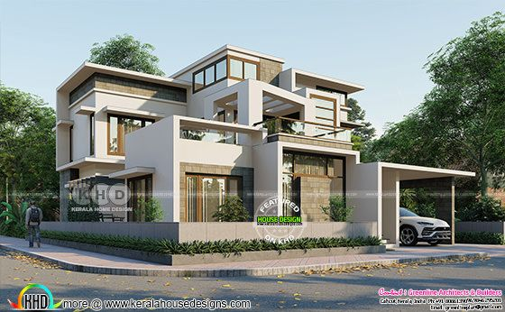 Lumion rendering of a beautiful contemporary style house