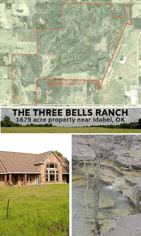 Stunning 1679 acre ranch for sale near Idabel in McCurtain Co. with cattle operation and hunting