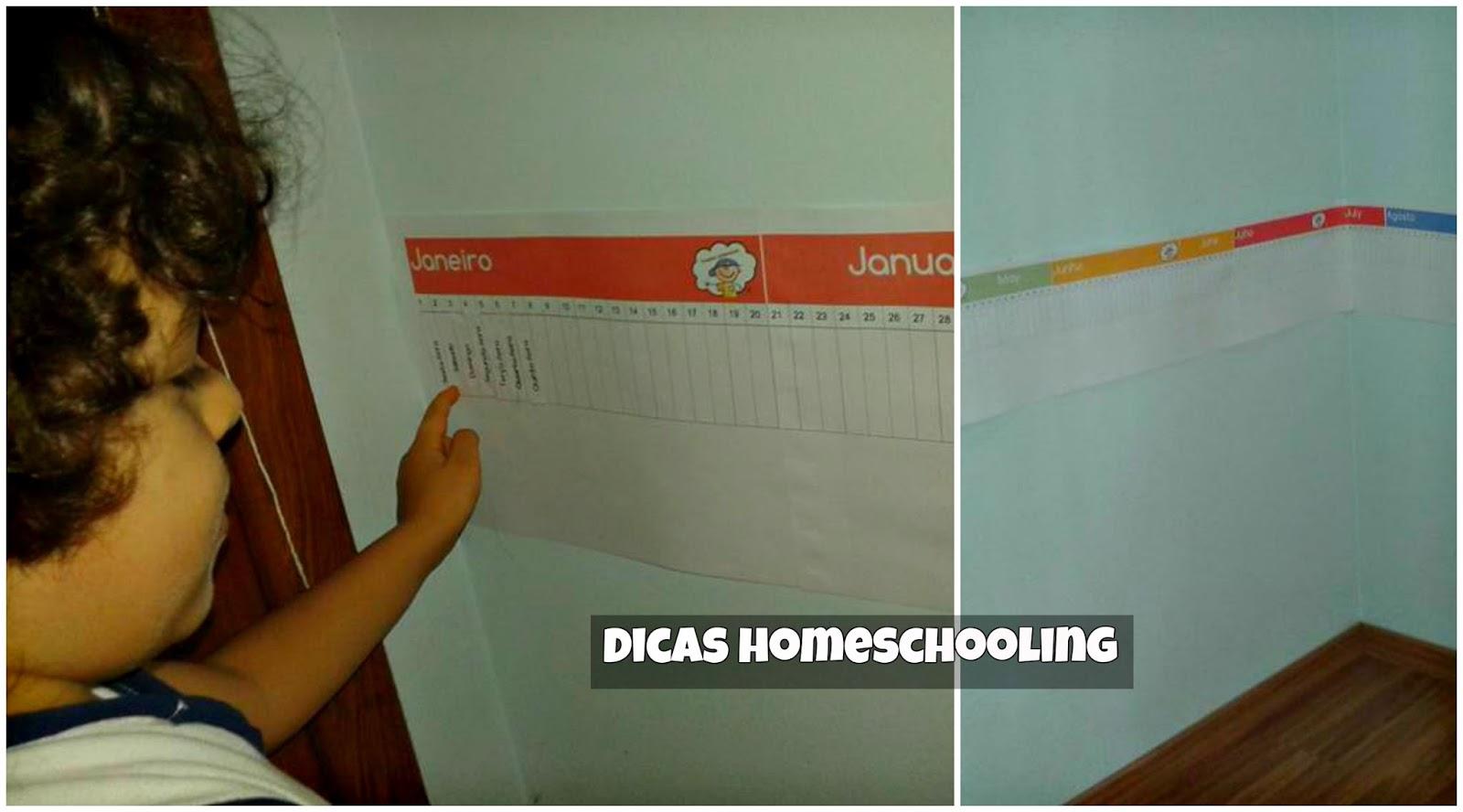 Calendario Montessori.Dicas Homeschooling Calendario Linear Montessori Bilingue Para