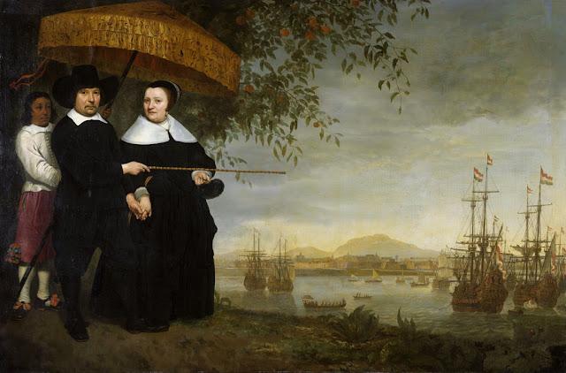 Альберт Кёйп - Портрет Якоба Матейсена с женой. 1640-60