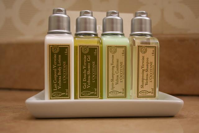 Upmarket bath amenities by L'Occitane en Provence Magnolia Hotel Victoria BC